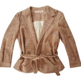 Marni beige silk/cotton jacket