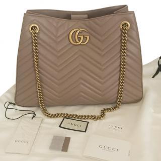 Gucci Beige Leather Marmont Shoulder Bag