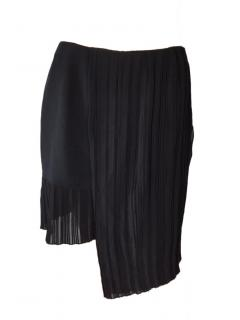 Dior Silk Pleated Black Skirt