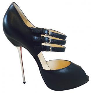 Christian Louboutin Black Leather Stilettos