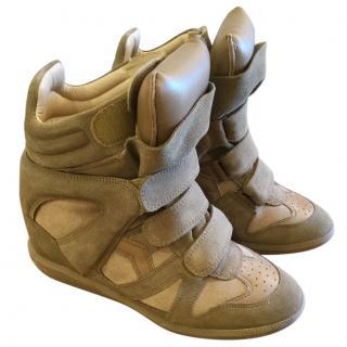 Isabel Marant Khaki Hidden Wedge Boots