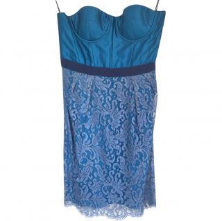 Matthew Williamson Blue Lace Dress