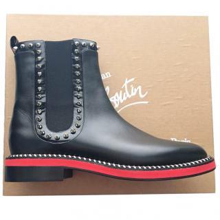 Christian Louboutin Notting Hill Leather Chelsea Boot UK7