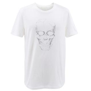 Alexander McQueen Men's White Skull Graphic T-Shirt