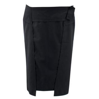 Roland Mouret Black Wool Skirt