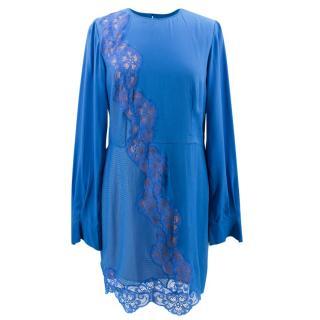 Stella McCartney Blue Lace Mesh Dress