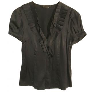 BCBGMAXAZRIA black sleeve blouse