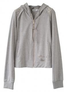 Moschino Jeans Grey leisure hooded jacket