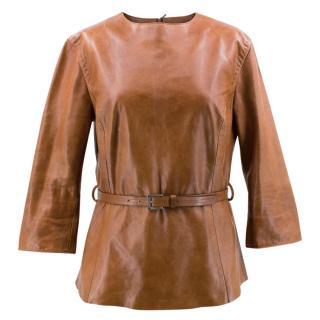 Gianfranco Ferre Leather Top