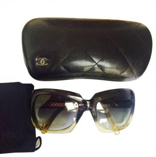 CHANEL Black and Yellow Sunglasses