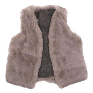Reversible Rabbit Fur Vest