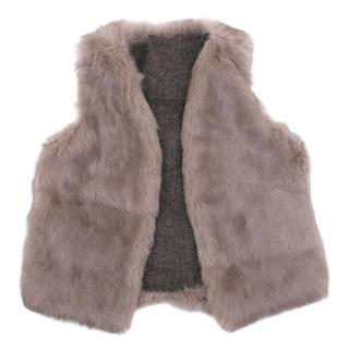 Reversible Rabbit Fur Vest
