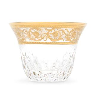 Hermes St. Louis Thistle Set of Six Gold Tea Cups