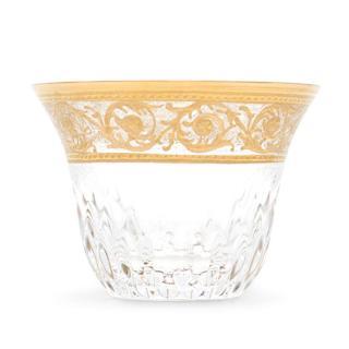 Hermes St. Louis Thistle Set of Six Gold Tea Cups