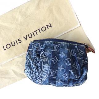 Louis Vuitton denim & leather cosmetic case
