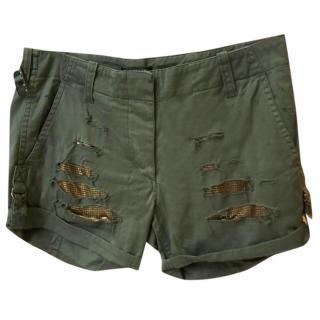 Balmain Khaki Shorts