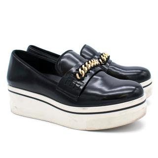 Stella McCartney Black Patent Binx Chain Platform Loafers