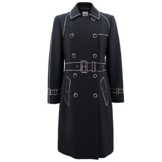 Moschino Trompe l'Oeil Double Breasted Coat