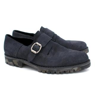 Jimmy Choo Men's Blue Suede Shoes