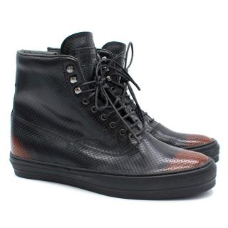 Alexander McQueen Punch Hole High Top Sneakers