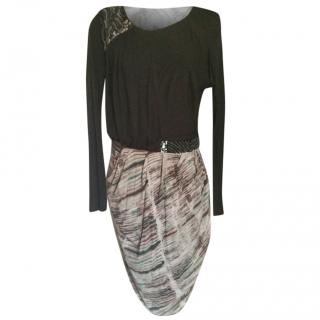 Saloni long sleeves dress