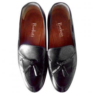 Berluti Men's Black Loafers
