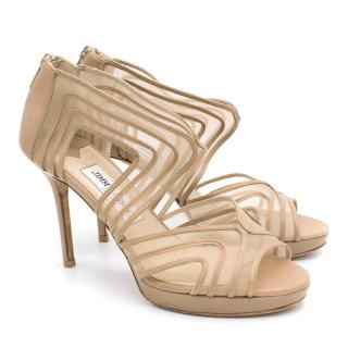 Jimmy Choo Mesh Cage Platform Sandal