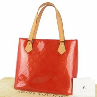 Louis Vuitton Vernis Houston 10560 Shoulder Bag Tote