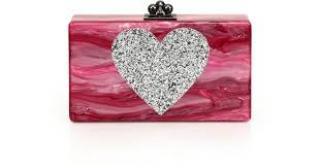 Edie Parker Pink Sparkling Clutch