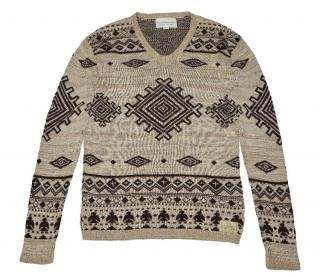 Cotton Jumper with Aztec Print