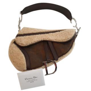 Christian Dior Shearling Handbag