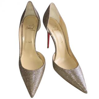 Christian Louboutin Gold Iriza Shoes