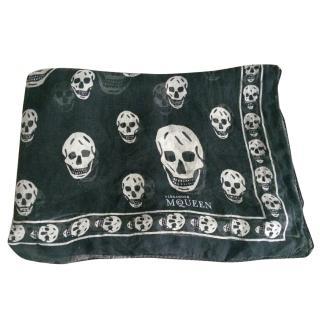 Alexander McQueen Skull Print Scarf - Black/White