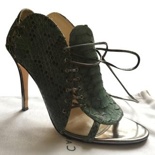 Camilla Skovgaard Green Lace Up Heels