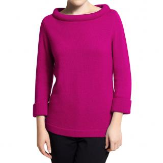 Cashmere Chunky Collar Slash Neck