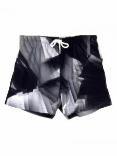 Christopher Kane digital print black swim shorts