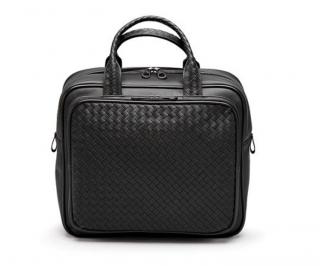 Bottega Veneta Travel Bag In Nero Intrecciato VN