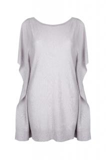 Belinda Robertson Erica Open Shoulder Sweater, Foggy Grey, Large