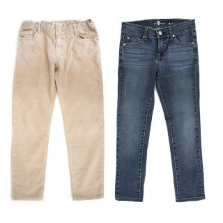 Bonpoint and 7 for all Mankind Girls Trousers