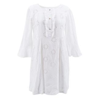 Vix White Cotton Dress