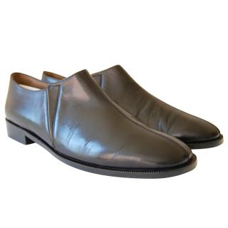 MARNI Calf Black Leather Loafer Moccasin shoes EU 41