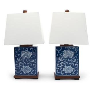 Ralph Lauren Flower Lamp Set