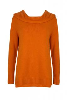 Cashmere Ribbed Neck Sweater