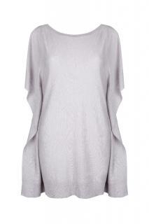 Belinda Robertson Erica Open Shoulder Sweater, Foggy Grey, Small