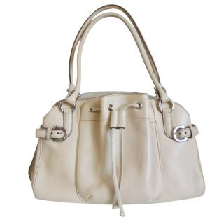 Salvatore Ferragamo Cream Leather Handbag
