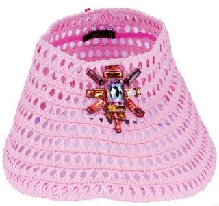 Louis Vuitton Raffia Crochet Pink Visor
