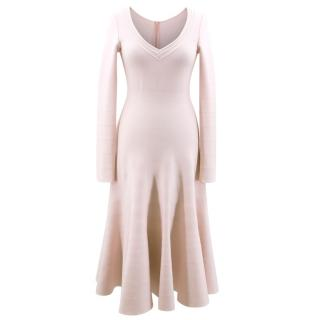 Alaia Wool Knit Midi Dress