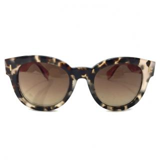 Fendi Tortoise Sunglasses with Contrasting Temple