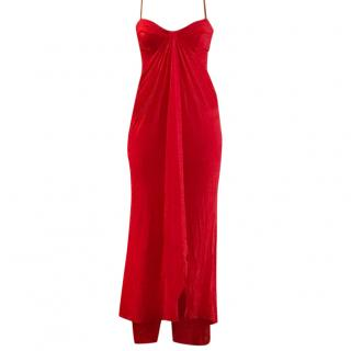 Amanda Wakeley Long Red Gown