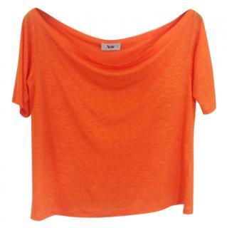 Acne Orange Linen Top